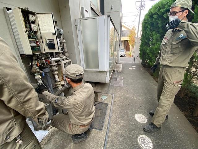 直結給水ポンプ交換工事